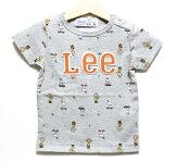 Lee(リー)×PEANUTS(ピーナッツ)スヌーピー半袖Tシャツ【グレー】【9238515】【80-140cm】