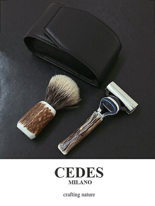 CEDES MILANO セデスミラノ シェービングセット ジレット フュージョン ブラック ced321409:ROOTWEB