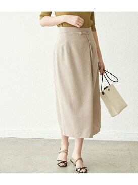 【セットアップ対応】リネンライクラップスカート ROPE' PICNIC ロペピクニック スカート スカートその他 ベージュ ネイビー ブルー パープル【送料無料】[Rakuten Fashion]