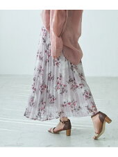 [Rakuten BRAND AVENUE]【WEB限定】ニュアンス花柄プリーツスカート ROPE' PICNIC ロペピクニック スカート【先行予約】*【送料無料】
