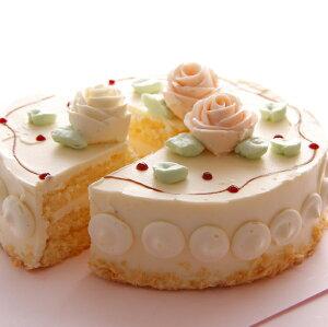 バタークリームケーキ(6号サイズ18cm・6名〜8名向き) (ホワイトデー)(母の日)(バースデーケーキ)(クリスマス)(ホールケーキ)(お誕生日ケーキ)