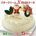 まだ間に合う!あす楽 クリスマスケーキ 限定 バタークリーム ケーキ5号サイズ(4〜5名)