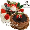 まだ間に合うクリスマス!生クリーム6号サイズ&ショコラ6号サイズ お得なクリスマス ケーキセット(ク ...