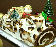 木のぬくもりが暖かい美味しさブッシュドノエル【クリスマスケーキ】