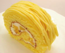 くるくるロール【黄金のモンブランロール1個】