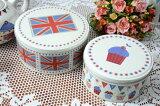 イギリス クリエイティブ トップス社 ティーパーティ ユニオン ジャック ケーキ缶2個セット