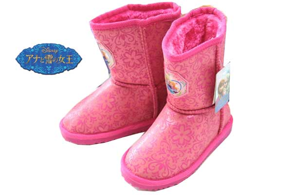 訳あり ディズニー アナと雪の女王 ブーツ キッズ 防寒 プリンセス アナ エルサ Disneyzone ムートンブーツ ウィンターブーツ アナ雪 靴 キッズ 子供靴 女の子 ディズニー靴 ディズニーグッズ 6726