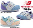 【送料無料】【ニューバランス】 子供靴 マジック キッズスニーカー ベビー 子供靴 履きやすい靴 NB ニューバランス FS996 *メール便不可*