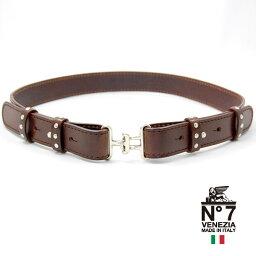 イタリア製レザーベルトレディースno7-s902-darkbrownNO7ナンバーセブン【ランキング】【ファッション】【バックル】【革小物】【belt】【ブランド】22000