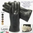 革手袋 イタリア グローブ スリーラインレザーグローブ <ラビットファーMIXライナー> 3CF-R ...