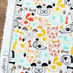 いぬプリント生地【10cm単位の切売り】ARTGALLERYFABRICS/Oh,Woof!/USAコットン(AGF-OHW-68680)