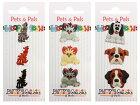 【輸入ボタン】ButtonsGaloreボタン3個セットPets&Pals(Dogs/Tabby/PeekingCats)ドッグキャットモチーフ