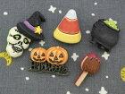 【輸入ボタン】ButtonsGaloreボタン6個セットHappyHalloween(HappyHauntings)ハロウィン/魔女モチーフ/ウィッチ/帽子/ガイコツ/骸骨/スカル/鍋/カボチャ/かぼちゃ