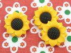 【輸入ボタン】ButtonsGaloreボタン3個セットFallFriends(Sunflowers)ひまわり/向日葵