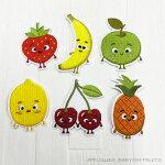 【ヨーロッパ製アップリケ】ベビーフルーツ/果物/いちご/りんご/バナナ/レモン/チェリーアップリケ/ワッペンSM-163021個単位