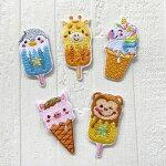 【ヨーロッパ製アップリケ】アイスクリーム/キリン/ペンギン/ユニコーン/サル/ブタアップリケ/ワッペンSM-163171個単位