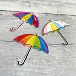 【ヨーロッパ製アップリケ】傘(かさ)・アンブレラアップリケ1個単位での販売です。SM-16349-UMBRELLA