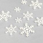 雪の結晶ボタンセット【輸入ボタン】ButtonsGaloreChristmasCollection(Blizzard)4747*クリスマスリースやツリーオーナメントにも*