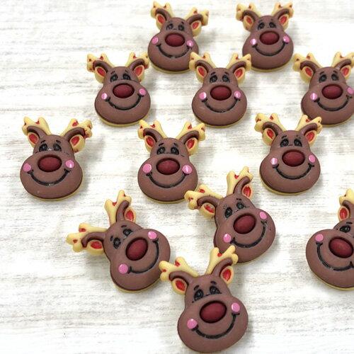 裁縫材料, ボタン  Christmas Collection (B1014-Reindeer)Buttons Galore