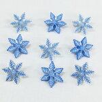 雪の結晶ボタン【輸入ボタン】【足つきボタン】ChristmasCollection(SnowFlake-SB12)