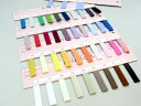 バイアステープの色・サイズ見本帳です!39色・3型展開(共通カラーです)画像では分かりづらい色...