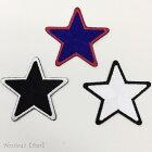 【ヨーロッパ製アップリケ】star-5*5スター/星刺繍モチーフアップリケ/ワッペン1個単位での販売です。