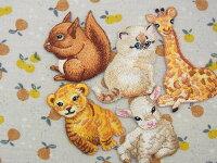 【ヨーロッパ製アップリケ】CuteAnimals動物の子供達りす/ねこ/きりんモチーフアップリケ/ワッペン1個単位での販売です。