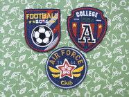 【ヨーロッパ製アップリケ】Soccerサッカーデニム地モチーフアップリケ/ワッペン1個単位での販売です。