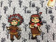 【ヨーロッパ製アップリケ】IndianBoy&Girlインディアン男の子女の子/NativeAmerican/民族のモチーフ/アップリケ/ワッペン1個単位での販売です。
