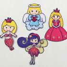 【ヨーロッパ製アップリケ】MagicPrincesマーメイド/天使/妖精/お姫様モチーフアップリケ/ワッペン1個単位での販売です。