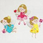 【ヨーロッパ製アップリケ】Fairyフェアリー/妖精モチーフアップリケ/ワッペン1個単位での販売です。