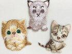【ヨーロッパ製アップリケ】CuteCatsねこ/子猫/モチーフアップリケ/ミニワッペン1個単位での販売です。