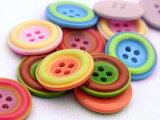 【ヨーロッパ製ボタン】ツートーン ボタン18mm1個単位での販売です。
