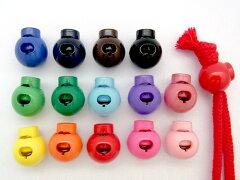 巾着やお洋服などに♪カラフル コードストッパー 選べるカラーは14色♪【1個売り】