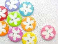 【ヨーロッパ製ボタン】花柄一輪フラワーボタン13mm1個単位での販売です。