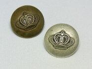 【ヨーロッパ製ボタン】クラウン*王冠*メタルボタン約18mm1個単位での販売です。