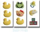 【輸入ボタン】ButtonsGaloreボタン3個セットBabyHugs(Ducky)ベビー/アヒルモチーフ