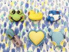 【輸入ボタン】ButtonsGaloreボタン6個セットBabyHugs(LittleBabyBoy)ベビー/男の子モチーフ