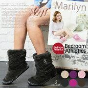 BedroomAthletics ベッドルームアスレチクス マリリン カラフル フェイクファー ショート ブーツルームシューズ