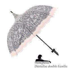 [ChantalThomassシャンタル・トーマス][LaceDoublePrintレースダブルプリント]フランスパゴダプリント長傘女性用軽量オシャレブランド雨傘【対応】【_包装】[fs01gm]【RCP】
