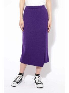 [Rakuten BRAND AVENUE][otonaMUSE12月号掲載]ニット巻き風スカート ROSE BUD ローズバッド スカート【送料無料】