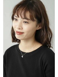 [Rakuten Fashion]Mイニシャル付ネックレス ROSE BUD ローズバッド アクセサリー ネックレス シルバー