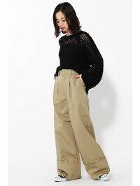 [Rakuten Fashion]【SALE/60%OFF】メッシュ編みニット ROSE BUD ローズバッド ニット ニットその他 ブラック ホワイト【RBA_E】