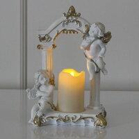天使置物LEDキャンドルエンゼルエンジェル薔薇雑貨飾りかわいいおしゃれインテリア