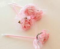 ローズキラキラボールペン1輪薔薇雑貨姫系雑貨RoseRich