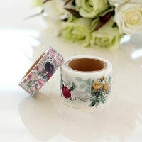 ルドゥーテローズマスキングテープ2本セット/日本製薔薇雑貨姫系雑貨文具花柄おしゃれかわいい