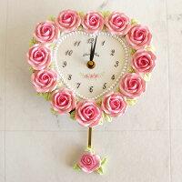 ハートローズ振子時計