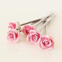 フルーツピックピンクローズおしゃれかわいい姫系雑貨姫系インテリア薔薇雑貨バラ雑貨ばら雑貨ローズ