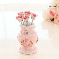 ピンクローズフルーツピック薔薇雑貨姫系雑貨・ピンク・花柄・プリンセス