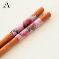 お箸薔薇柄薔薇雑貨/メール便可かわいいおしゃれ薔薇柄・ピンク・花柄・カトラリー
